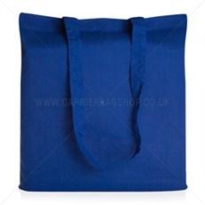 Baumwolltaschen mit langen Tragegriffen königsblau