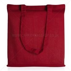 Baumwolltaschen mit langen Tragegriffen rot