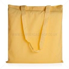 Baumwolltaschen mit langen Tragegriffen gelb