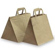 Papiertragetaschen mit Flachhenkel Patisserie-Stil braun