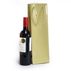 Exklusive Papietragetaschen für eine Flasche gold glänzend