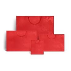 Exklusive Papiertragetaschen rot glänzend