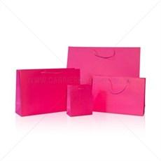 Exklusive Papiertragetaschen pink glänzend