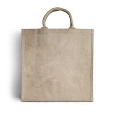 Jutetragetaschen mit gepolsterten Tragegriffen naturfarben