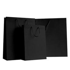Exklusive Papiertragetaschen schwarz matt