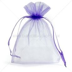 Organzabeutel mit Kordelzug violett