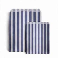 Papiertüten dunkelblau-weiß gestreift