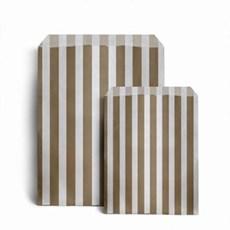 Papiertüten gold-weiß gestreift
