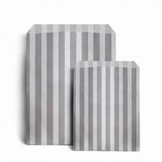 Papiertüten grau-weiß gestreift