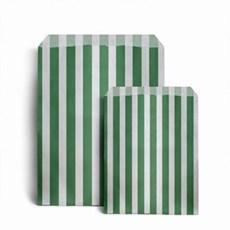 Papiertüten grün-weiß gestreift