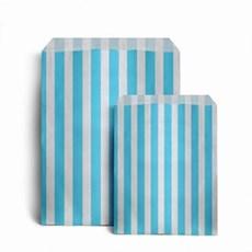Papiertüten hellblau-weiß gestreift