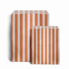 Papiertüten orange-weiß gestreift