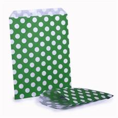 Papiertüten weiß auf grün gepunktet