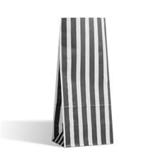 Blockbodenbeutel  Pick` n Mix schwarz-weiß gestreift