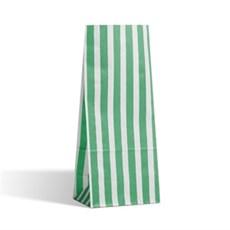 Blockbodenbeutel  Pick` n Mix grün-weiß gestreift