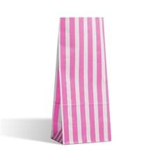 Blockbodenbeutel  Pick` n Mix rosa-weiß gestreift