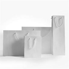 Papiertragetaschen Luxus-Natur, weiss