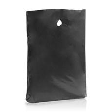 Premium Plastiktragetaschen biologisch abbaubar schwarz