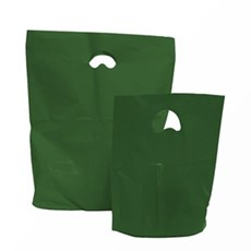 Premium Plastiktragetaschen biologisch abbaubar moosgrün