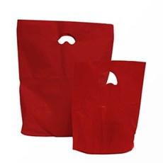 Premium Plastiktragetaschen biologisch abbaubar rot