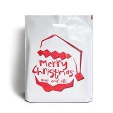 Kunststofftragetaschen mit Griffloch, Santa Claus is Coming Motiv