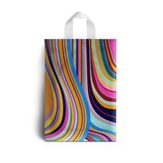 Kunststofftragetaschen mit Schlaufengriffen Design der 70erJahre
