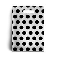 Standard Kunststofftragetaschen schwarzes Punktmuster