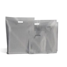 Standard Plastiktragetaschen silberfarben