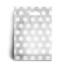 Standard Kunststofftragetaschen weißes Punktmuster