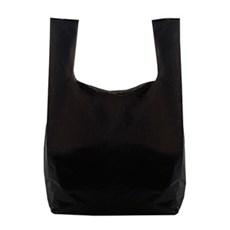 Kunststofftragetaschen aus recyceltem Material mit Hemdchenträger schwarz
