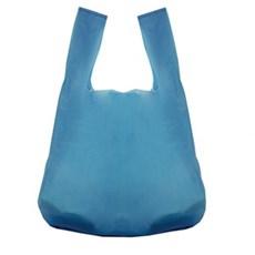 Kunststofftragetaschen aus recyceltem Material mit Hemdchenträger blau