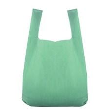 Kunststofftragetaschen aus recyceltem Material mit Hemdchenträger grün