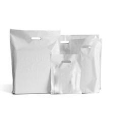Kunststofftragetaschen (DKT) mit Griffloch weiß