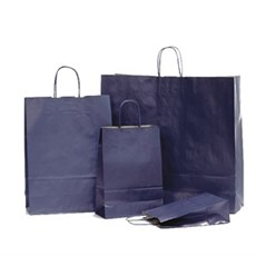 Papiertragetaschen mit Kordelgriffen dunkelblau