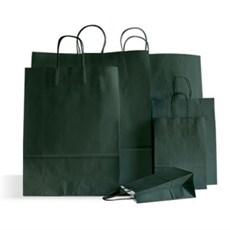 Papiertragetaschen mit Kordelgriffen dunkelgrün