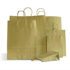 Papiertragetaschen mit Kordelgriffen gold