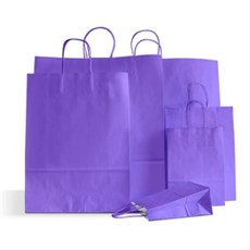Papiertragetaschen mit Kordelgriffen lila
