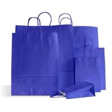 Papiertragetaschen mit Kordelgriffen meerblau