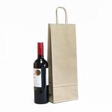 Premium Papiertragetaschen mit Kordelgriffen für eine Weinflasche barun
