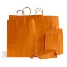 Papiertragetaschen mit Kordelgriffen orange
