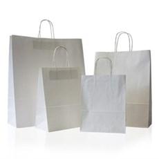 Standard Papiertragetaschen mit Kordelgriffen weiß