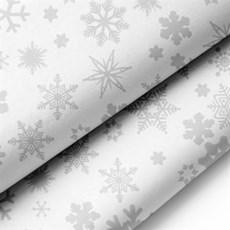Premium Seidenpapier, silberen Schneeflocken Motiv