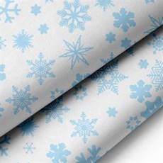 Premium Seidenpapier, blauen Schneeflocken Motiv