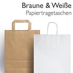 Braune & weiße Papiertragetaschen