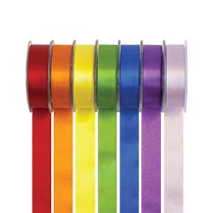 farbige Doppel Satin Bänder