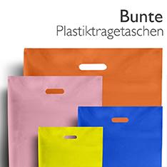 Bunte Plastiktragetaschen