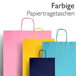 Farbige Papiertragetaschen