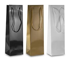 Handgefertigte Papiertaschen für Weinflaschen