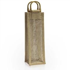 Jutetragetaschen für Weinflaschen