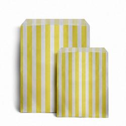 Papiertüten gestreift, gelb